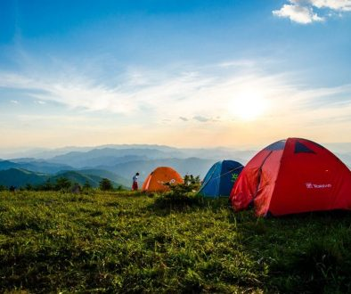 photo-of-pitched-dome-tents-overlooking-mountain-ranges-1687845